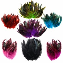 100 Pcs/Pack 9 Colors For Choosing Rooster Tails Feathers Cock Tail FeatherS for Wedding Christmas Party Decoration#254941(China)