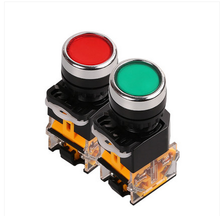 LA38-11S self-locking button switch SSI hole diameter  22mm red and green/machine tool/electric control cabinet fittings