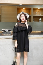 2017 Sexy Solid White Casual Dress Off Shoulder Cutout Summer Dress Women Short Sleeve Ruffles Mini Dresses(China)
