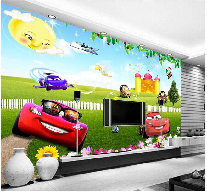 Custom papel DE parede infantil large cartoon car murals for children room TV setting wall vinyl which papel DE parede <br>