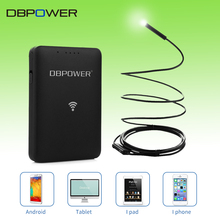 DBPOWER Wifi Endoscope Camera 2MP 9mm 1~20M HD720P Inspection Snake camera 6LED Waterproof Mini Borescope With WIFI Box for IOS
