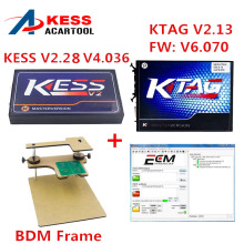 Unlimited Tokens ! V2.30 KESS V2 FW V4.036 OBD2 Manager Tuning Kit + SW V2.13 KTAG V6.070 K-TAG ECU Programming Tool + BDM Frame