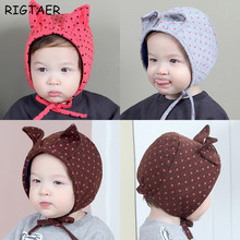 Autumn and winter newborn baby hats caps infant baby cotton cartoon cat ears knitted boy girl ear protection elves hat beanies