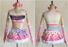 love live Paradise Live YAZAWA NICO cosplay costume free shipping custome made headband+top+skirt+stockings+gloves(China)