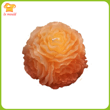 LX Mold 3D Rose Ball Silicone Candle Mold  Large Flower Ball Handmade Candle Decorative Wedding Soap Mold