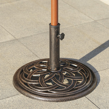 iKayaa 19.84LB Cast Iron Patio Garden Umbrella Base Stand High-quality Rust-free FR Stock