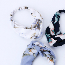 Fashion flowers Turban Headbands For Women Summer chiffon Headband Head Wrap Wide Ear Warmer Hairband Hair Accessories