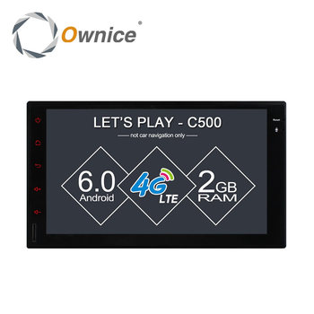 Ownice C500 Android 6.0 2G RAM Support 4G  DAB+ DVR 7inch 1024*600 16G ROM Radio 2 din car radio player For Universal no dvd