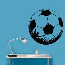 Football Sticker Sports Soccer Decal Helmets Kids Room Name Posters Vinyl Wall Decals Football Sticker(China)