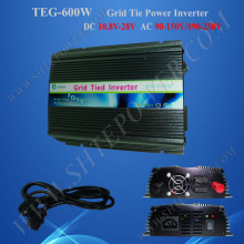 Solar panel 24V, grid inverter solar 600W, on grid tie inverter dc 24v to ac 220v