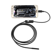1.5M 7MM Waterproof Android Endoscope USB Inspection USB Borescope Tube Snake Mini Cameras Micro Camera