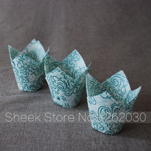 tulip mini cupcake liners /baking cups paper/muffin paper cake(China)