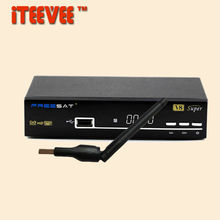 1PC  freesat V8 Super & USB Wifi DVB-S2 Satellite TV Receiver Support PowerVu Biss Key Cccamd Newcamd Youtube Youporn USB Wifi