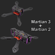 Martian II and Martian III 220 220mm 4mm Arm Carbon Fiber Frame Kit with PDB For FPV Cross Racing Drone Quadcopter +