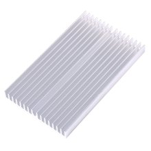 100*60*10mm DIY Cooler Aluminum Heatsink Grille Shape Radiator Heat Sink Chip for IC LED Power Transistor(China)