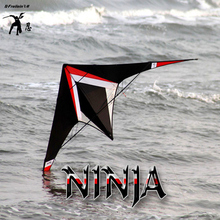 free shipping high quality 2.4m Ninja stunt kites pc31 ripstop with handle line power kite japanese kites sale dual line toys(China)
