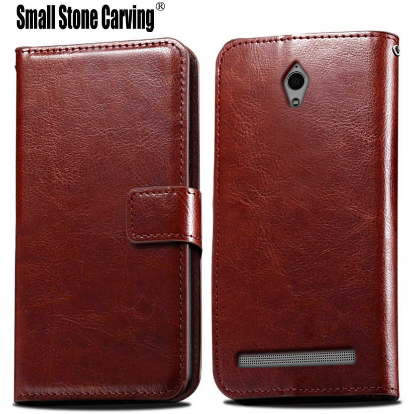 9c9a3a8ead43 Luxury Wallet Flip PU Leather Case Cover For Asus Zenfone C ZC451CG Z007  Cell Phone Case