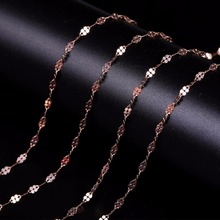 Robira Genuine 18k Gold Necklace Fine Jewelry Real Au750 Rose Gold Chain Wedding Party Gift Romantic For women Girl Choker(China)