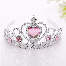 girls plastic princess crowns hairband hair head hoop band headbands accessories for children gifts tiara decorations headdress