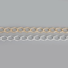 3 Meters/lot 17x12mm Gold /Silver Bulk Aluminum Curb Chain Necklace Jewelry Findings Making DIY Materials Fit Bracelet Necklace(China)