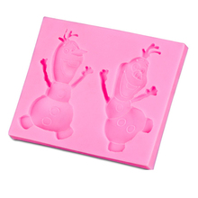 High Quality New Arrival Cute Cartoon Figure  Shape 3D Silicone Cake Mold Fondant Cake Tools For Cupcake D245