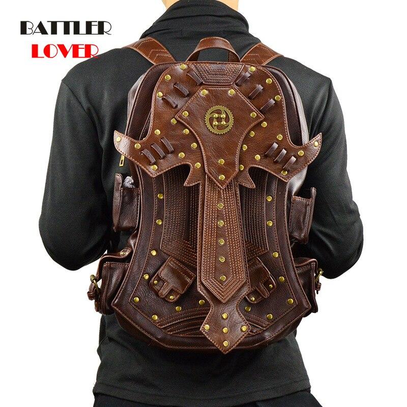Fashion Gothic Steampunk Skull Retro Rock Bag Men Women Punk Waist Bag Shoulder Bag Phone Case Holder Women