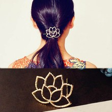 Women's Fashion Hair Accessorie Lotus Retro Styling Hairpin Hair Clips Headdress Flower Hair Accessories(China)