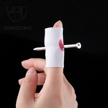 Horror Fun Fake Nail Through Finger Blood Trick Jokes Gag Toys Funny Halloween Antistress Practical Novelty Toys For Children(China)
