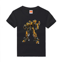 Amapo 2016 kids  Bumblebee Autobot T shirts optimus prime robots childrens mark Shirts boys O neck short sleeves  8 color 3-14T