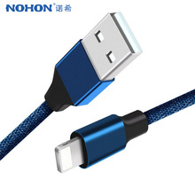 Buy NOHON Cable USB Charging iPhone 5V / 2A Charge Data Sync 1m Braided Phone Cable Apple iPhone 7 X 6 8 Plus 10 iPad Air 2 for $1.89 in AliExpress store