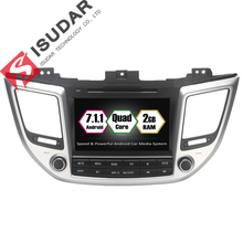 Android 7.1.1 Two Din 8 Inch Car DVD Player For Hyundai/IX35/TUCSON 2015 2016 2017 With Canbus 2GB RAM GPS Navigation Radio WIFI(China)