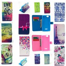 Laugh Pure PU Leather Stand Wallet Card Slot Bag Hard Cover Flip Cases For Wiko Rainbow / Explay Fresh Luruxy Fashion Bag