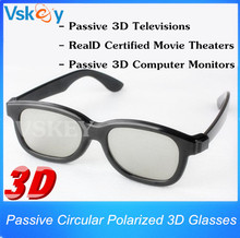 2pcs Polarized Passive 3D Glasses For Passive 3D Televisions RealD Movie 3D Movie Theaters 3D TV Cinema System