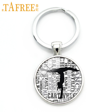 TAFREE Artistic Gymnastics keychain popular sports games key chain give touch firm support forexercise workouts jewelry NS558(China)