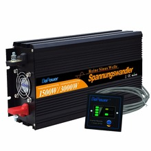 12V-220V pure sine wave power inverters 1500w 3000w peak  converters with Remote control