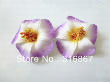 purple Foam Hawaiian flower Hibiscus Flower bridal hair clip 9cm(China)