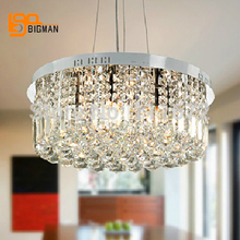 wholesales new modern design crystal pendant lights for dinning room lamps(China)