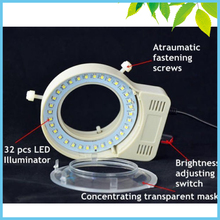 Microscope USB LED Ring Light Brightness Adjustable Inner Diameter 65mm Stereo Microscope Ring Lamp(China)