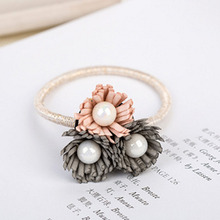 New Women Summer Style Hair Accessories Handmade Elastic Hair Bands Gum For Hair Acessories