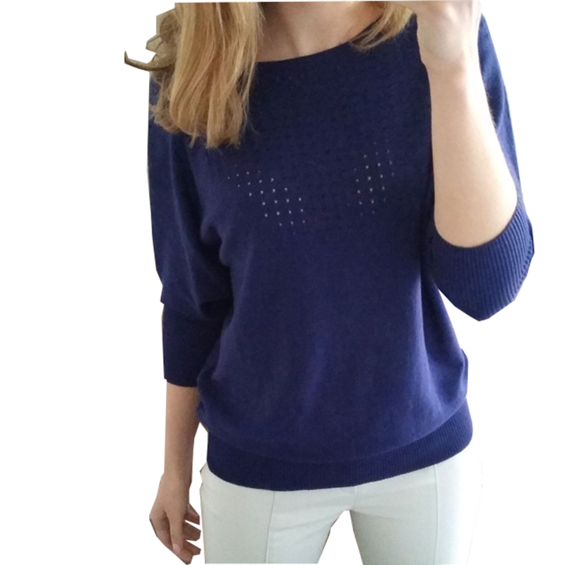 IN HOT SALE New 2017 Women's Knitted Sweater Euro-American fashionable popular autumn sweater with O-collar and bat sleeves