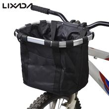 Bicycle Basket High Quality Bicycle Aluminum Alloy Frame Pet Carrier Bike Detachable Cycle Front Carrier Bag Pet Carrier(China)