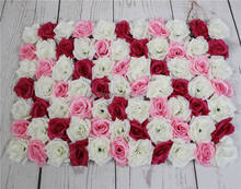 mix color Shipping 60*40cm Artificial silk rose flower wall wedding background lawn/pillar flower home market decoration