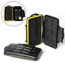HOT SDMSD12 Memory Card Case Anti-shock Waterproof Tough Micro SD Card Case for 12 SD card + 12 TF card(China)