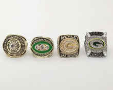 Wholesale Promotion For 1966/1967/1996/2010 Green Bay Packers Replica Super Bowl Championship Ring 4 Years Sets(China)