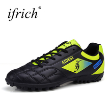2016 Football Shoes Soccer Boots For Men Children Soccer Cleats Turf Shoes Leather Soccer Trainer Boys Soccer Sneaker Turf Boot(China)