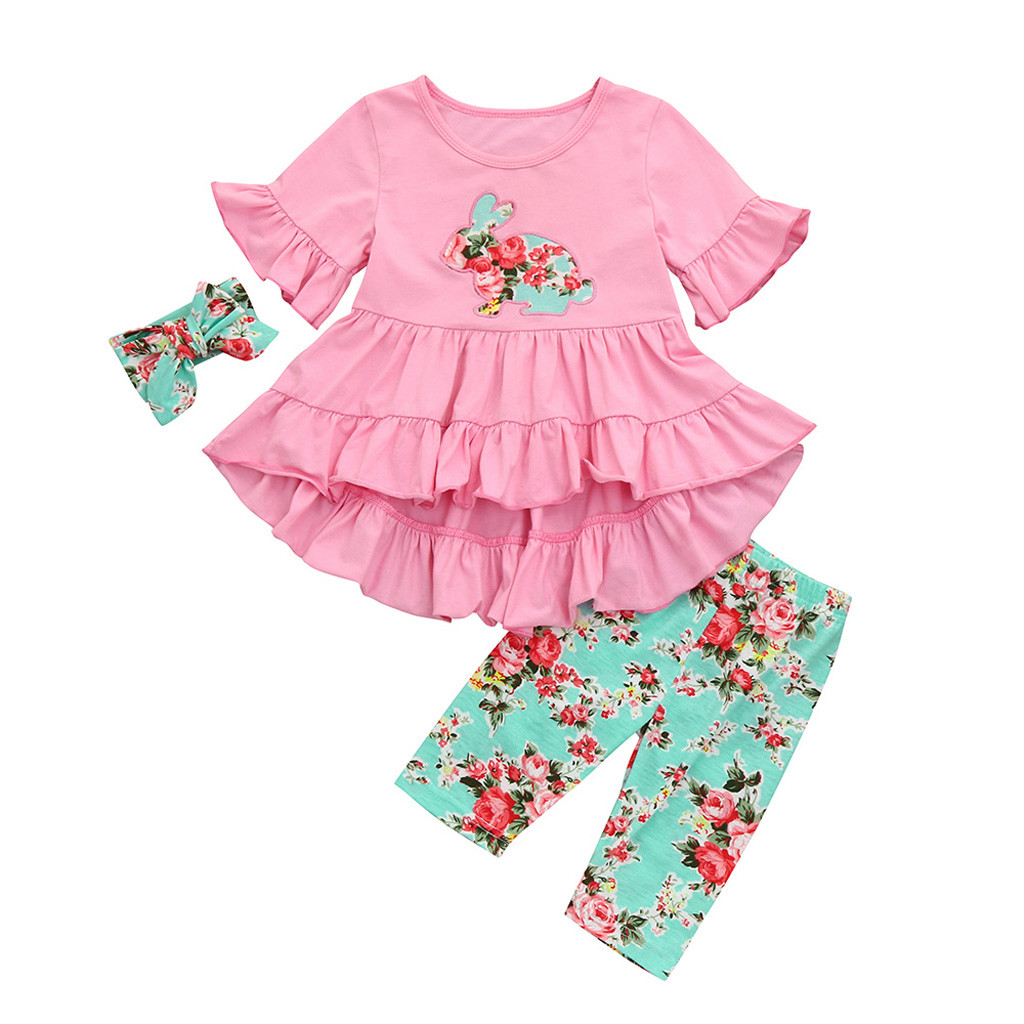 Easter Children JINLILE Kids Baby Girls Sleeveless Rabbit Print Princess Vest Dress Baby Clothing Skirts & Skorts