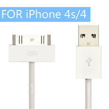 New USB Sync Data Charging Charger Cable Charging Cord Adapter Lead Quality for Apple iPhone 4s 4 3GS iPad 2 3 iPod nano touch