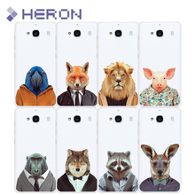 TPU Animal Case For Xiaomi Redmi 2 3 3X 4 4A note 2 note 3 Note 4 Pro Soft Super Thin Transparent PhoneCase Back Cover Bag