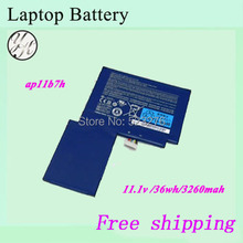 High quality Original Laptop Battery For ACER Iconia W500 W500P Tablet PC AP11B7H AP11B3F BT.00303.024 BT.00307.034