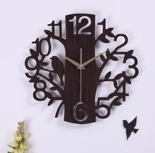 070341 creative arts 14 inch muted fashion minimalist living room wooden wall clock personalized home decoration(China)